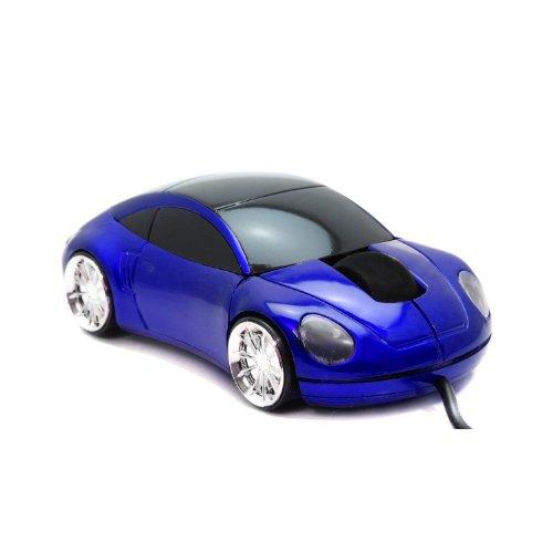 Computermaus LED Maus Auto Style Sportwagen Infrarot USB optische Maus in Blau 800dpi