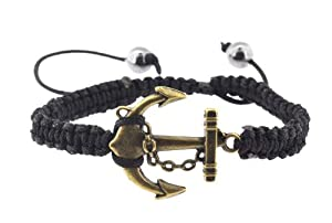 Copper Finishing Anchor Bracelet / Macrame Baracelet, Anchor Wristband