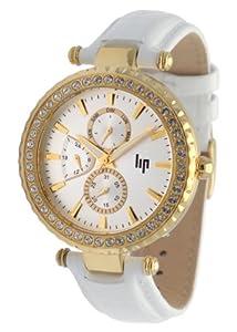 Lip - 10911032 - Montre Femme - Quartz Analogique - Cadran Blanc - Bracelet Cuir Blanc