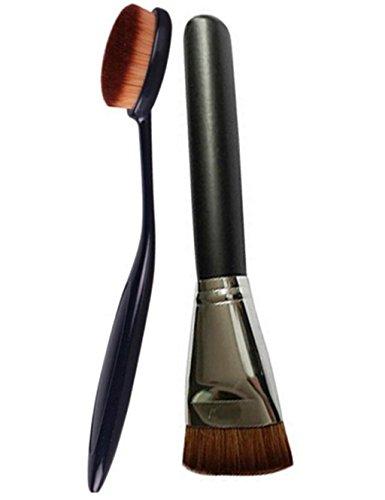 Two Pro Cosmetic Makeup Face Powder Blusher (Black)