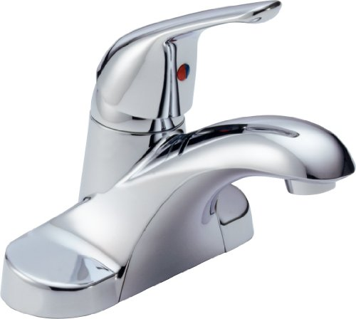Delta B501LF Foundations Core-B Single Handle Lavatory Faucet Less Pop-Up, Chrome