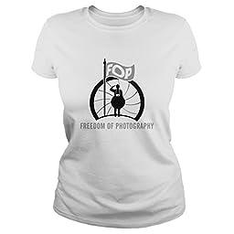 Freedom Of Photography Photography Shirts (Large;White)