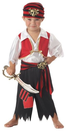 Ahoy Matey! Toddler Pirate Costume (3-4T or 4-6) (Sword not included)