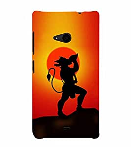 Lord Hanuman 3D Hard Polycarbonate Designer Back Case Cover for Nokia Lumia 535 :: Microsoft Lumia 535