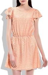 Addyvero Women's Gathered Pink Dress