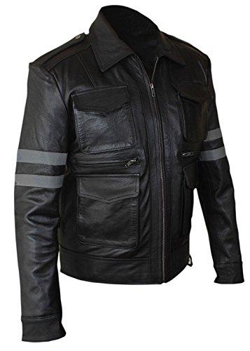 AZ Resident Evil 6 Leon kennedy in vera pelle nera giacca