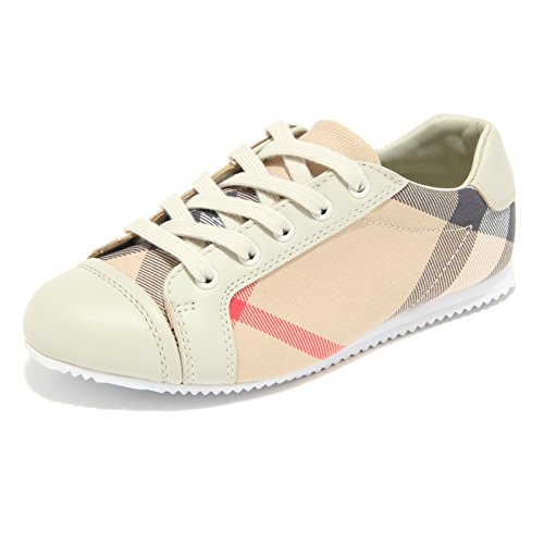 91609 sneaker BURBERRY CHECK scarpa bimbo bimba shoes kids unisex [32]