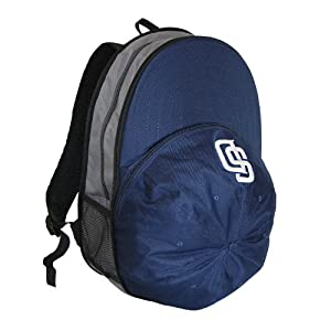 MLB San Diego Padres Heads Up Backpack, Navy by Concept 1