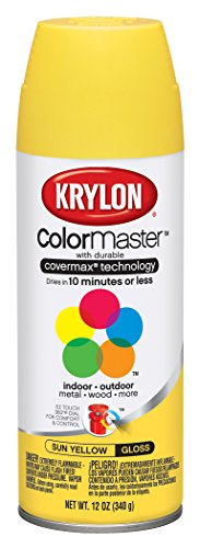 Krylon 51806 Sun Yellow Interior and Exterior Decorator Paint - 12 oz. Aerosol