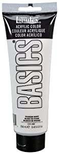 Liquitex BASICS Acrylic Paint 8.45-oz tube, Titanium White