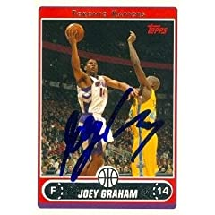 Joey Graham Autographed Hand Signed Basketball Card (Toronto Raptors) 2006 Topps #82... by Hall of Fame Memorabilia