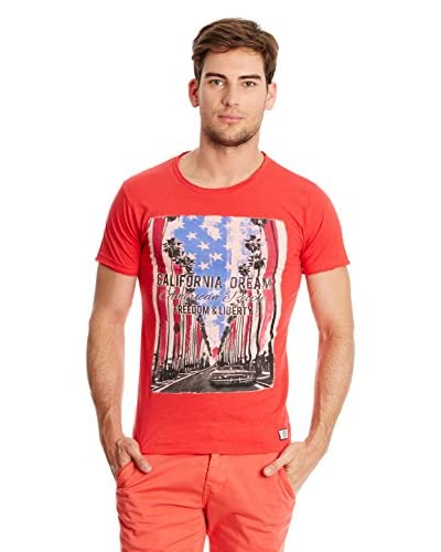 American People T-Shirt Manica Corta Freedom [Rosso]