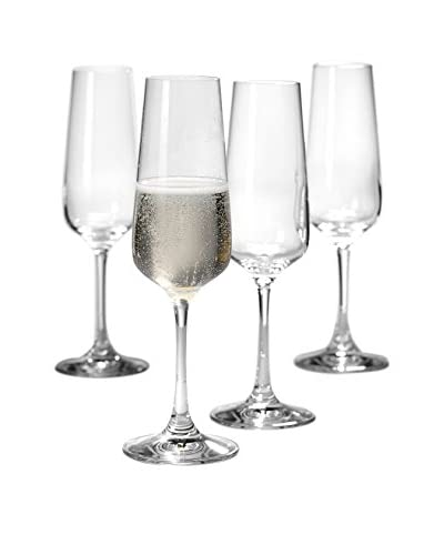 Villeroy & Boch Set of 4 Ovid 8.45-Oz. Champagne Flutes, Clear