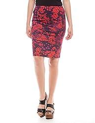 Prym Women's Printed Jersey Pencil Skirt (1011513301_Multi Color_Medium)