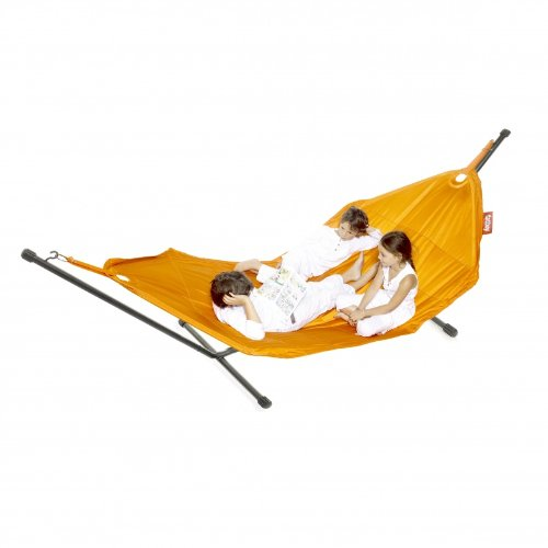 FATBOY garden hammock in orange with self supporting frame