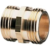 Nelson Industrial Brass Pipe and Hose Fitting for Female Hose to Female Hose, Double Male 50573