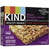 Kind Granola Bar, Maple Pumpkin Seed w/Sea Salt, 1.2-ounce Bars, 5 Bars per Box, Case of 8 Boxes (Total 40 Bars)