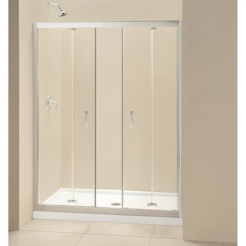 dreamline dl 6210c 01cl butterfly frameless bi fold shower