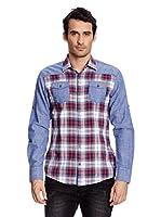 Redbridge Camisa Hombre (Azul / Rojo)