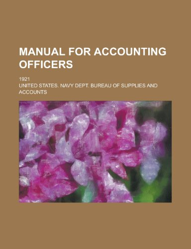 Manual for Accounting Officers; 1921