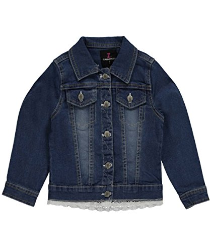 "Z. Cavaricci Little Girls' Toddler ""Lace Trim"" Denim Jacket - denim blue, 4t"