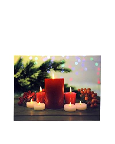 Panel Decorativo Luminoso Velas