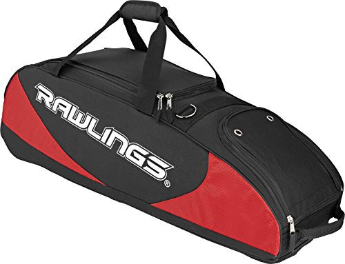 rawlings-bolso-equipaje-funda-para-beisbol-softball-scarlet-poliester-color-negro