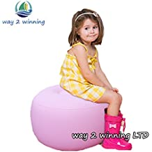Generic New Pink Children Air Sofa Stools Inflatable Toys Lightweight Lounger Outdoor Activeity Bedroom Living...
