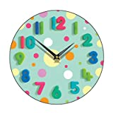 Spotty Wall Clock Finish: Mint