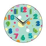 Spotty Wall Clock Finish: Mint