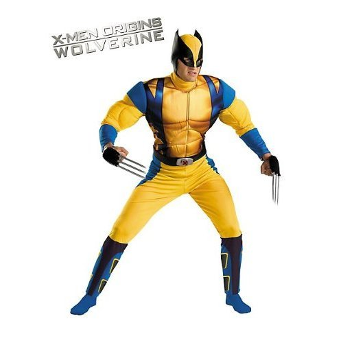 Wolverine Classic Muscle Teen & Adult Marvel Comics X-Men Costume