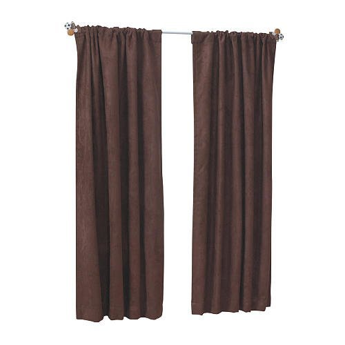 Sweet Dreams Suede Window Panel Brown (63 inches)