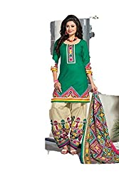 Riddhi Dresses Women's Cotton Unstitched Dress Material (Riddhi Dresses 83_Multi Coloured_Free Size)
