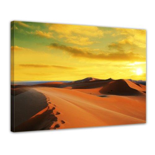 Bilderdepot24 Leinwandbild Sahara - Wueste in Afrika II - 70x50 cm 1 teilig - fertig gerahmt, direkt vom Hersteller