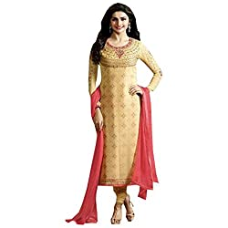 Radhika Golden Georgette Dress Material