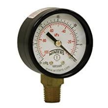 "Winters PEM Series Steel Dual Scale Economy Pressure Gauge, 0-160 psi/kpa, 1-1/2"" Dial Display, +/-3-2-3% Accuracy, 1/8"" NPT Bottom Mount"