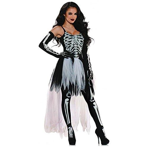 GSG Sexy Skeleton Costume Adult Halloween Fancy Dress (Skeleton Hoodie Teen Costume)