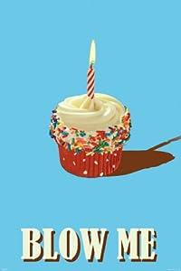 Pyramid Blow Me Cupcake Poster Print