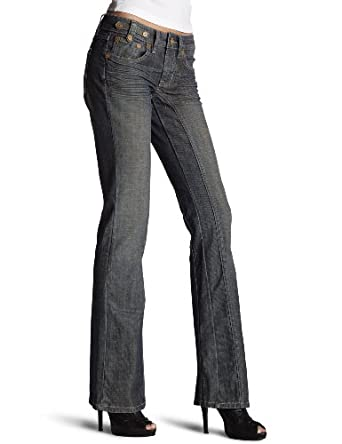 Kentucky Denim Women's Dolly Boot Cut Jeans, Dirty Harry, 33