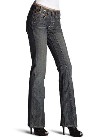Kentucky Denim Women's Dolly Boot Cut Jeans, Dirty Harry, 31