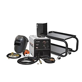 Hobart 500550 Auto Arc 130 Wire Feed MIG Welding Kit with Welder, Helmet, Regulator, and Cart