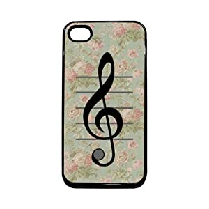 Vintage Floral Music Note Treble Clef Thinshell Case Protective iPhone 4 Case iPhone 4S Case