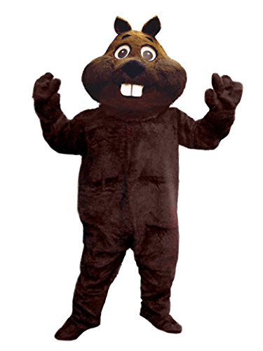 Mascots USA by CJs Huggables Custom Pro Low Cost Fun Beaver Mascot Costume