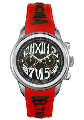 Unisex Safi Chronograph Red Rubber