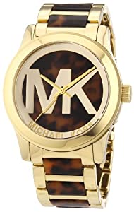 Michael Kors Damen-Armbanduhr XL Analog Quarz verschiedene Materialien MK5788
