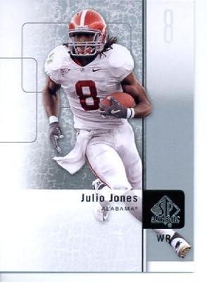 2011 SP Authentic Football Cards #100 Julio Jones RC - Alabama Crimson Tide (RC - Rookie Card) Atlanta Falcons (NFL Trading Card)