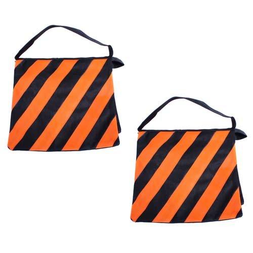 CowboyStudio 2x orange sandbag Set Of Two Orange Photography Studio Video Stage Film Heavy Duty Light Stand Sandbag Saddlebag