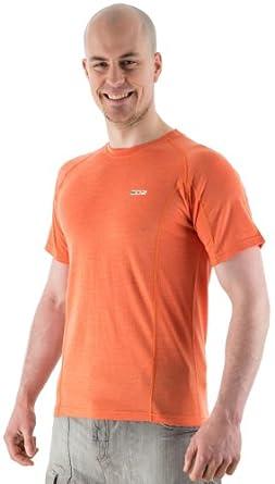 EDZ 200g Merino Wool Men's Base Layer T-Shirt Nectarine XXXL