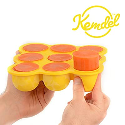 Multi-Purpose Baby Food Storage with No Spill Clip-On Silicon Lid - 9 x 2.6 OZ Portions - Best quality Food Grade Silicon - BPA Free & FDA Approved - Best Choice to Keep Your Baby Healthy & Growing! by Kemdel that we recomend individually.