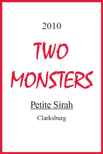 2010 Two Monsters Petite Sirah 750 Ml